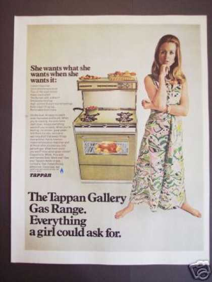 Tappan Gas Range Kitchen Stove Retro Decor (1968)