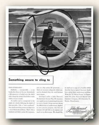 Something Secure John Hancock Advertising (1941)