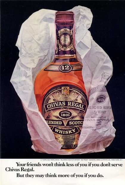 Chivas Regal Scotch Whisky Bottle (1971)