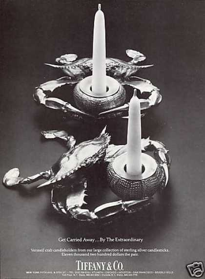 Tiffany & Co Crab Vermeil Candle Holders Photo (1981)