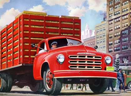 Studebaker 2-ton chassis with rack body 			Frederic Tellander (1950)