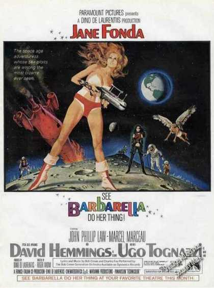 "Jane Fonda ""Barbarella"" Color Movie (1968)"