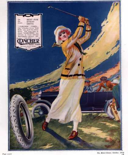 Clincher, Golf Tyres, uk (1919)