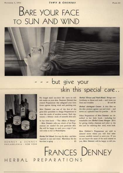 Denney & Denney's Herbal Preparations – Bare Your Face To Sun And Wind (1931)