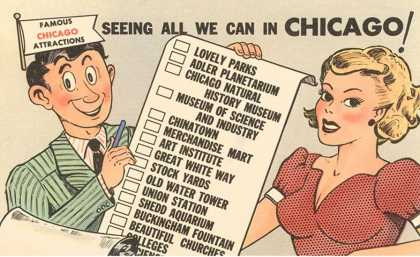 Cartoon Checklist of Sites, Chicago, Illinois