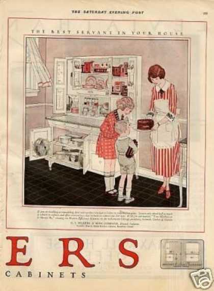 Sellers Kitchen Cabinet Color Ad 2 Page (1923)