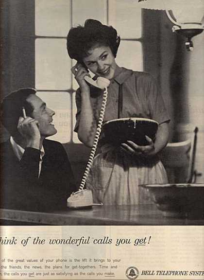 "Bell's ""Think of the wonderful calls you get!"" (1963)"