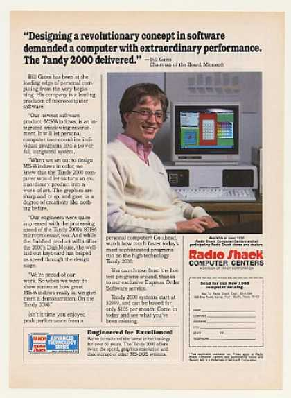 Bill Gates Radio Shack Tandy 2000 Computer (1984)
