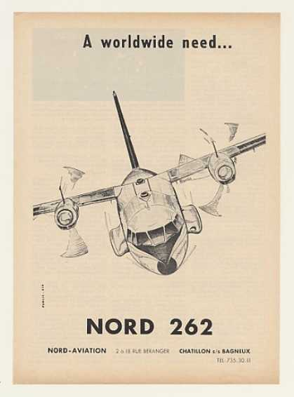 Nord Aviation 262 Airplane Aircraft (1964)