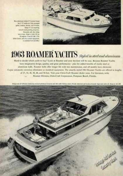 Roamer Yachts 27 & 38 Photos Boats (1963)