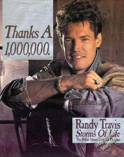 Nice Randy Travis Photo Debut Album Platinum (1985)