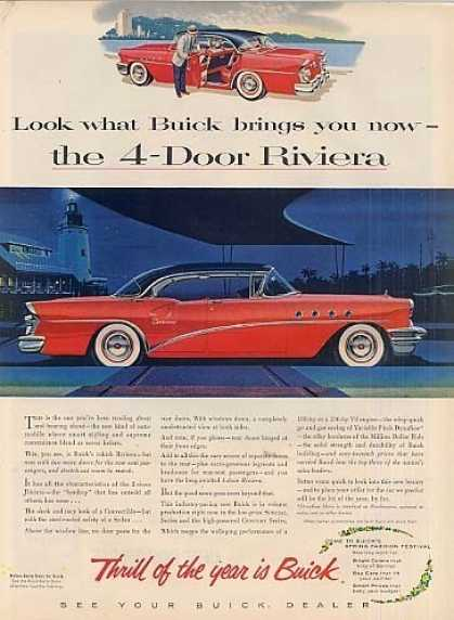Buick 4-door Riviera Car (1955)