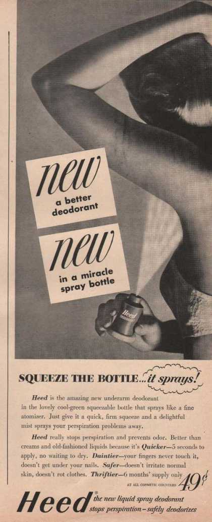 Heed Liquid Spray Deodorant (1949)