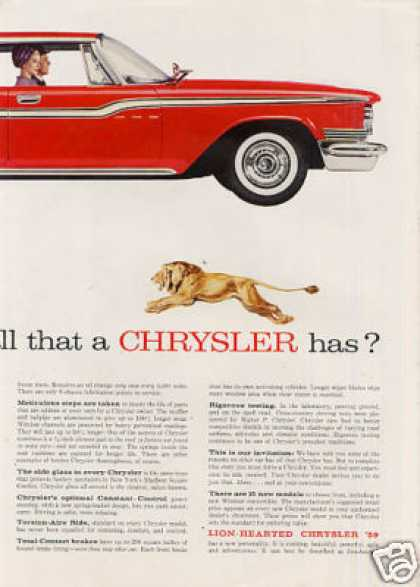 Chrysler Windsor Car Ad Centerfold (1959)