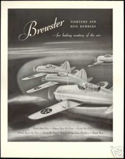 Brewster Fighter Bomber Military Plane Airplane (1940)