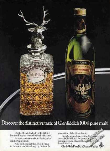Glenfiddich Pure Malt Scotch Whiskey Uk (1976)