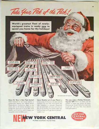 New York Central Christmas Train – Santa Claus (1949)