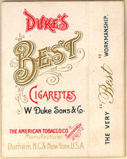 W. Duke Sons & Co.'s Duke's Best Cigarettes – Duke's Best Cigarettes