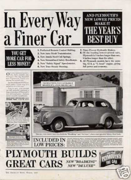 "Plymouth Car Ad ""In Every Way... (1939)"