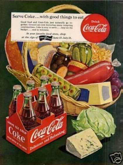 "Coca-cola Ad ""Serve Coke... (1951)"