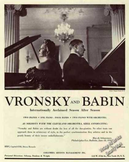 "Vronsky and Babin Photo Duo-piano ""Best of All"" (1959)"