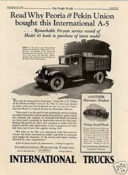 International Truck Ad Model A-5 (1930)