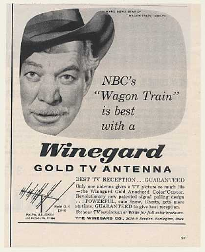 '59 NBC TV Wagon Train Ward Bond Winegard TV Antenna (1959)