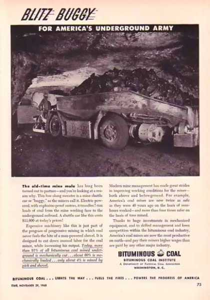 Bituminous Coal Institute – BLITZ BUGGY (1948)