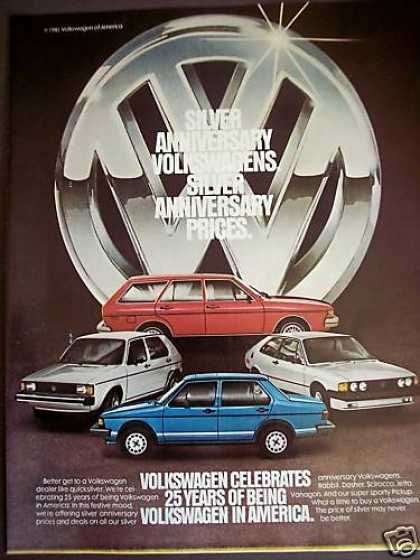 Vw Volkswagen Silver Anniv Sale Rabbit Photo (1981)