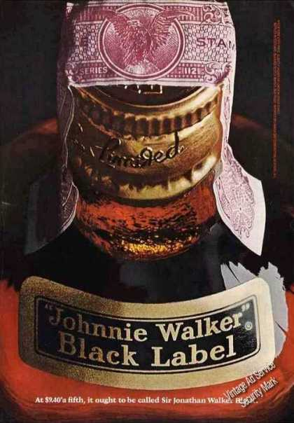 "Johnnie Walker Black Label ""Sir Jonathan"" (1967)"