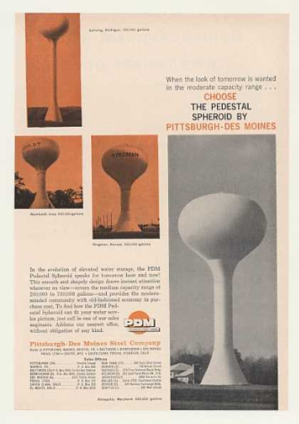 PDM Pedestal Spheroid Water Tanks (1960)