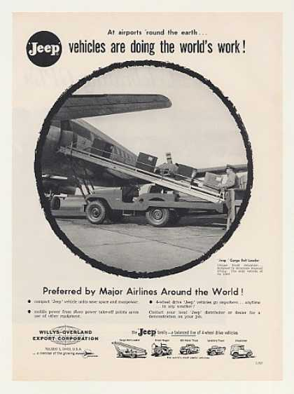 Jeep Airplane Cargo Belt Loader Photo (1959)