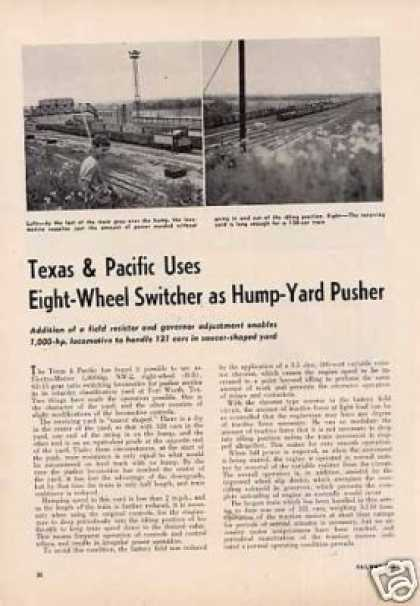 """T&p Uses 8-wheel Switcher As Hump Pusher"" Article (1950)"