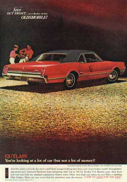 Oldsmobile Car – Cutlass V-8 Red with Black Roof (1966)