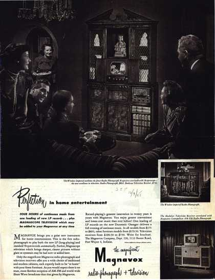 Magnavox Company's Radio-Phonograph + Television – Perfection in home entertainment (1948)