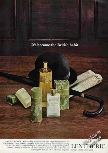 "Onyx for Men By Lentheric ""The British Habit"" (1967)"