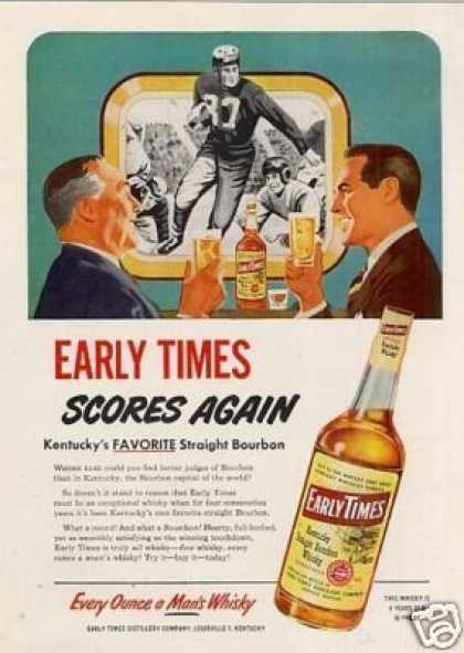Early Times Bourbon Whiskey (1951)
