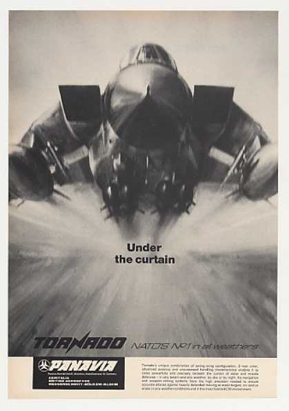 Panavia Tornado Aircraft Under Curtain Photo (1980)