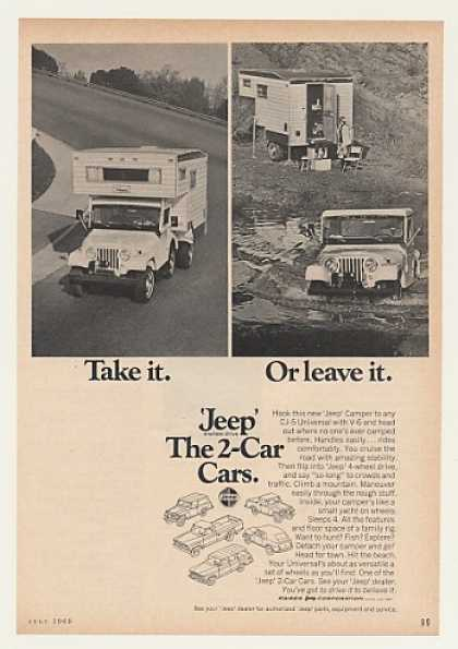 Jeep Camper CJ-5 Universal 2-Car Cars (1969)