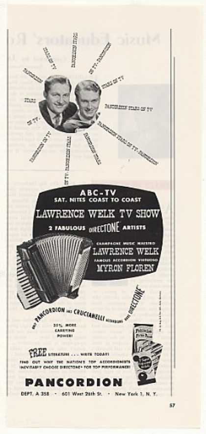 Lawrence Welk Myron Floren Pancordion Accordion (1958)
