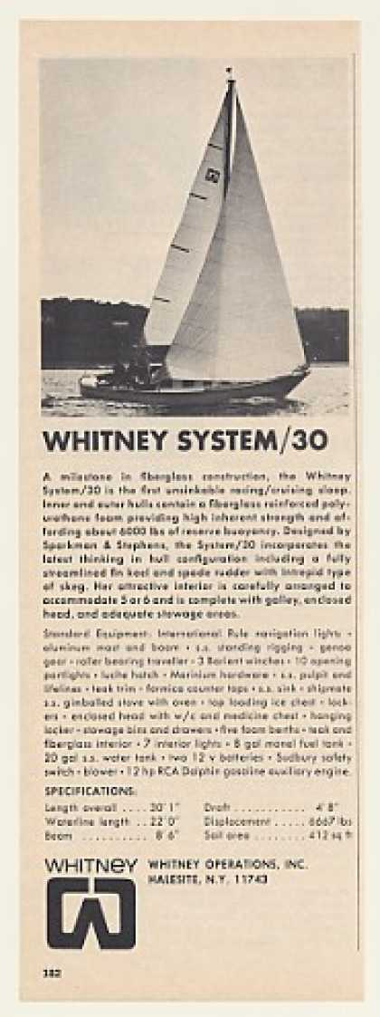 Whitney System/30 Sailboat Boat (1969)