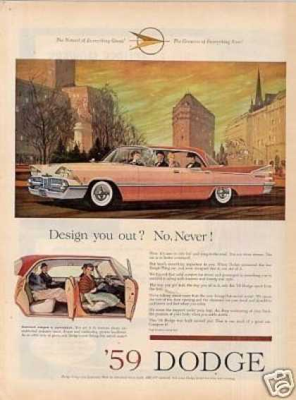 "Dodge Car Ad ""Design You Out... (1959)"