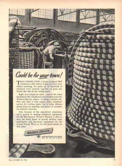 Western Electric Bell System – Paper Wrapped Phone Cable (1951)
