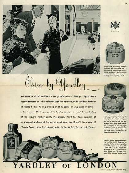 Yardley & Co., Ltd.'s Yardley's English Lavender – Poise by Yardley (1938)
