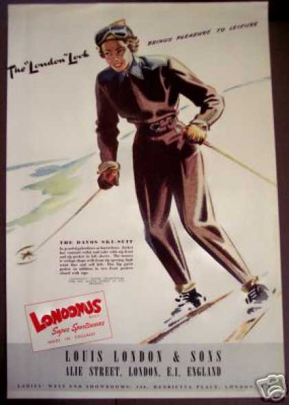 Ski-suit Fashion Art Londonus Sportswear Uk (1949)