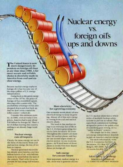 Nuclear Energy Vs Foreign Oil's Ups & Downs (1987)