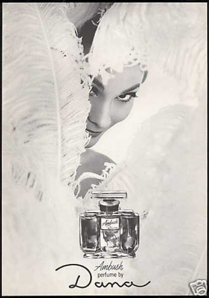 Dana Ambush Perfume Pretty Woman Feathers (1967)
