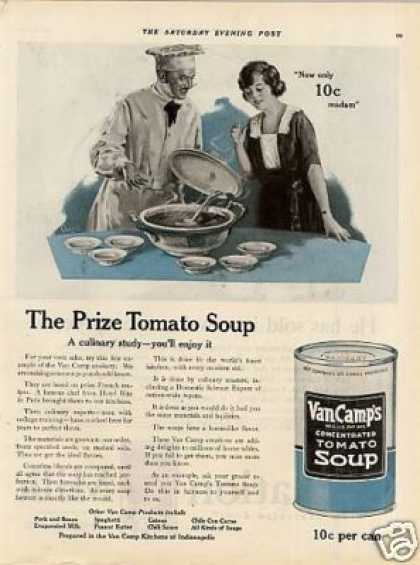 Van Camp&#8217;s Tomato Soup (1922)