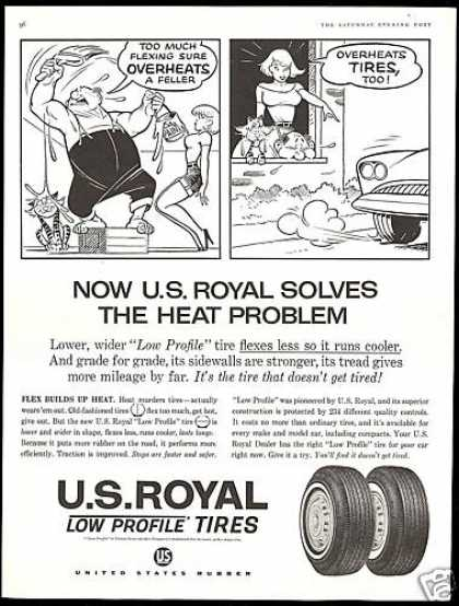 U.S Royal Low Profile Tires Flex Less Illust. (1961)