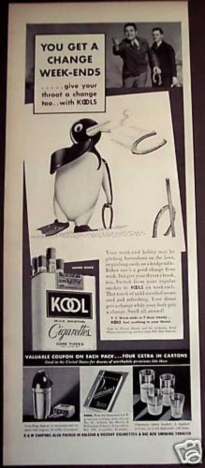 Kool Cigarettes Horseshoes (1939)
